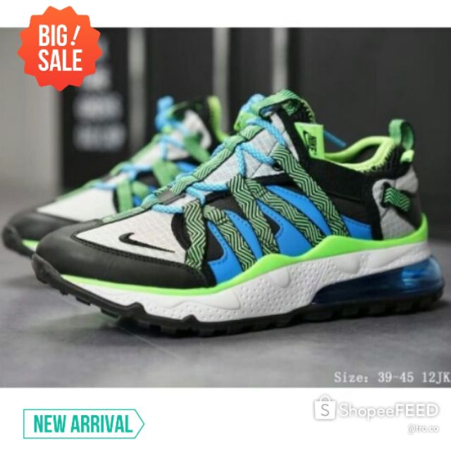 💥PREMIUM💥KASUT NIKE BOWFIN 270 RUNNING OUTDOOR SHOES LOW TOP CASUAL KASUT OUTDOOR - GREENBLUE