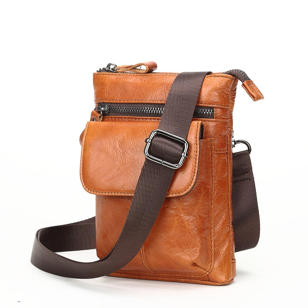 Meigardass Mens Genuine Leather Fanny Pack Chest Shoulder Backpack Cross Body Purse Travel Sport Waist Pack Black