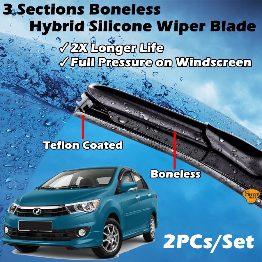 Perodua Bezza Wiper 3 Sections Boneless Hybrid Silicon Wiper (21