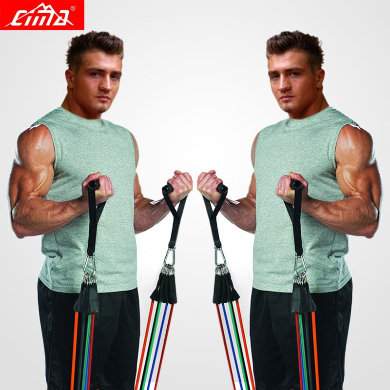Resistance Bands 11 PCS Fitness loop ropes Tubes pull up Set Gym Equipment