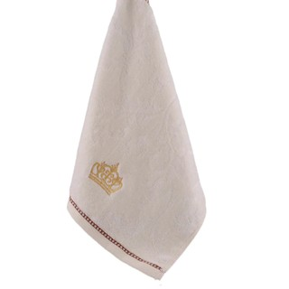 Cotton Soft Hand Face Towel Square Towel Absorbent Crown Embroidery Towel