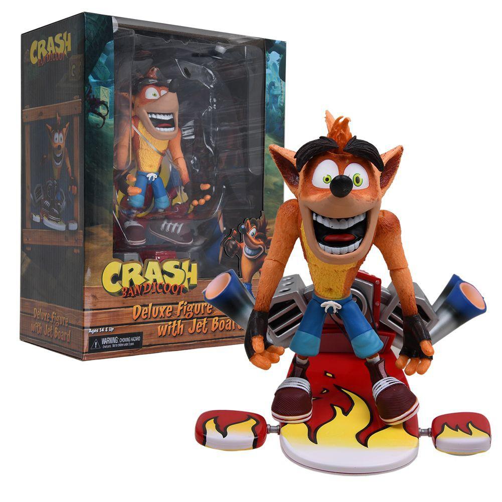 "Neca-Crash Bandicoot 7/"" Scale Action Figure-Deluxe Crash avec Jetpack"