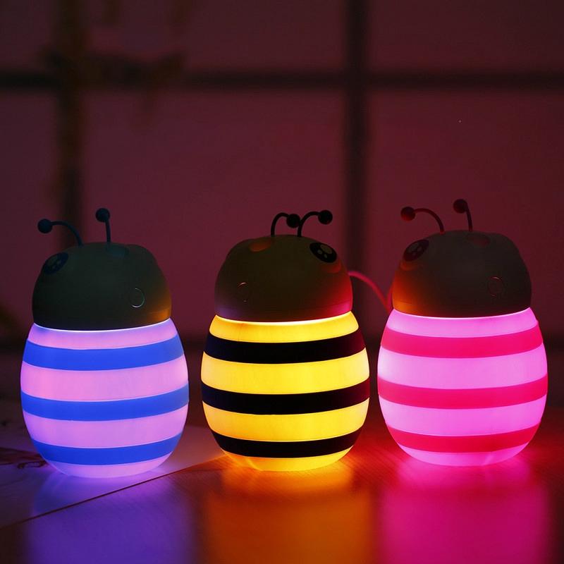 New Bee Humidifier Mini Colorful Night Light Humidifier USB Silent Air Purification Hydrating Humidifier