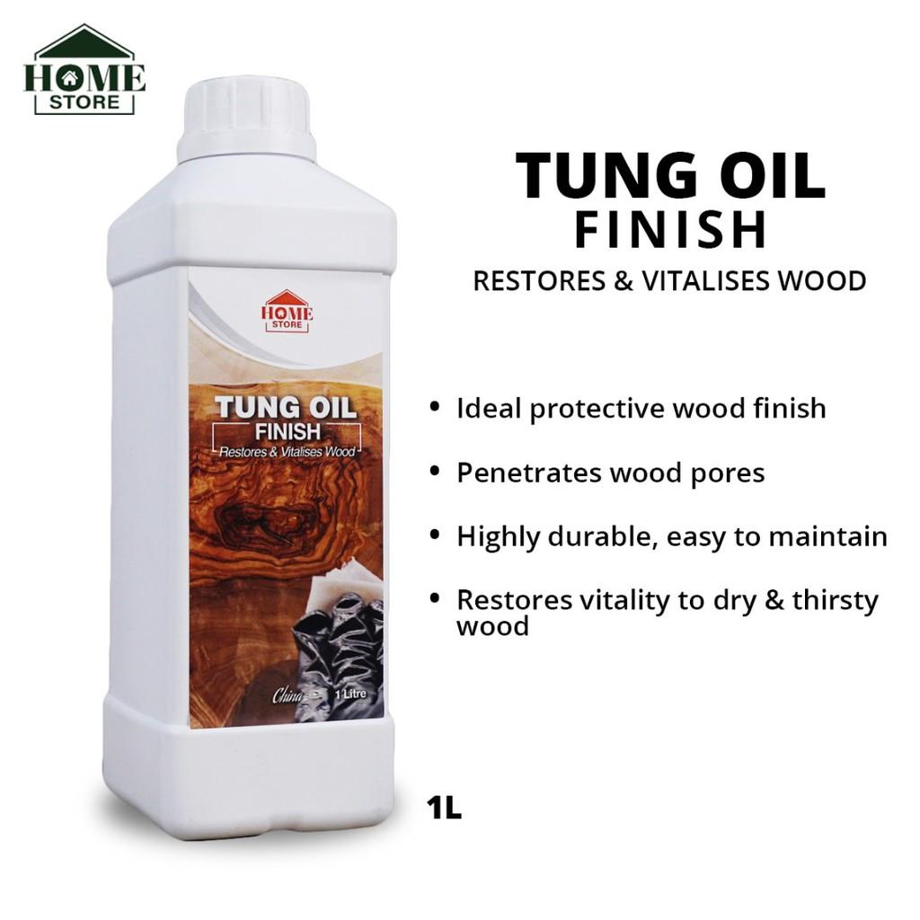 Home Store Tung Oil Finish Restores & Vitalises Wood 1L