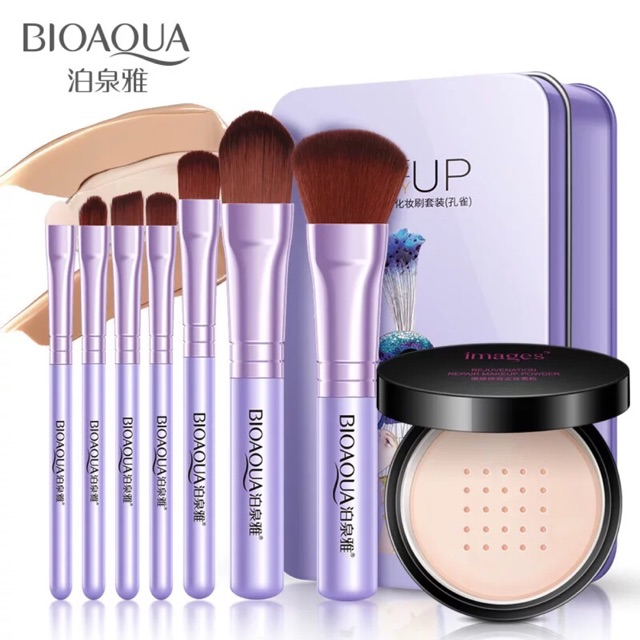 BIOAQUA Make up Brush+Soft Silk Smooth Makeup Powder Soft Light Face Concealer