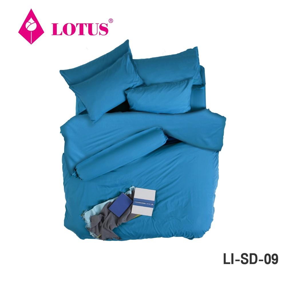 [รวมBest Seller] Lotus ชุดผ้าปู+ผ้านวม รุ่น Solid สีพื้น **เคลือบสารป้องกันไรฝุ่น ส