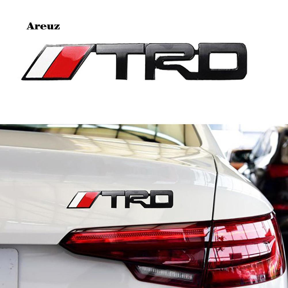 AREZ_3D TRD Grille Metal Emblem Car Sticker Bumper Badge for Toyota Racing  Auto Logo