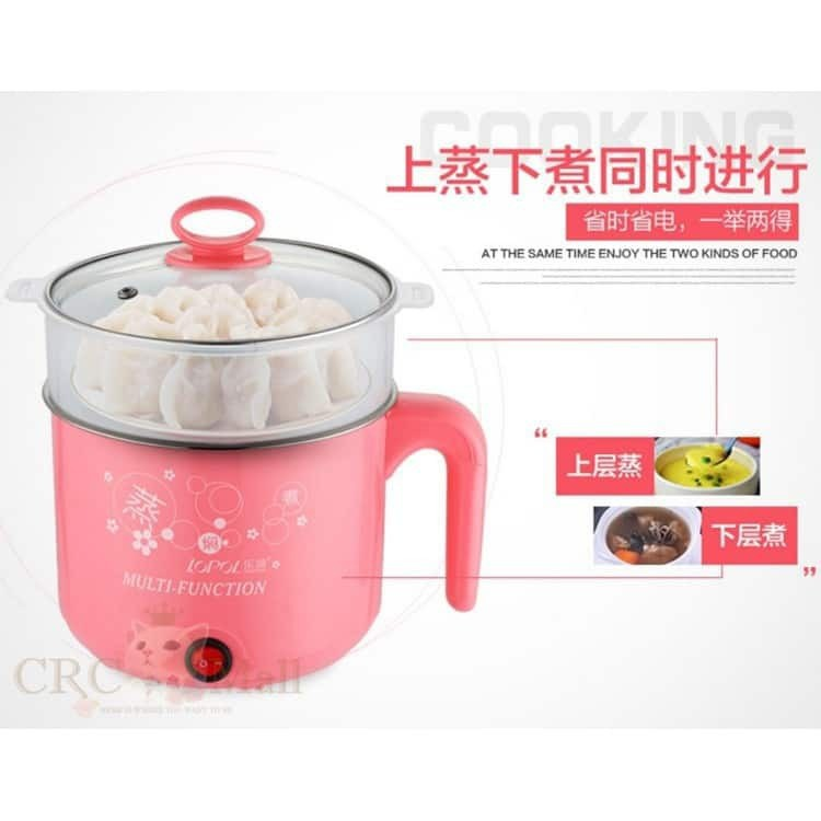 2 Layers 1.8L Multifunction Stainless Steel Electric Cooker Steamer
