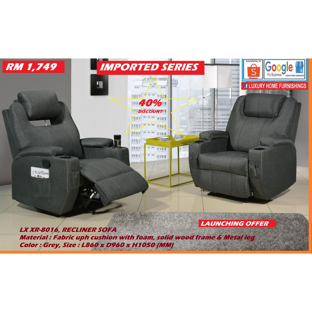 RECLINER SOFA SET, FABRIC, FULLY IMPORTED