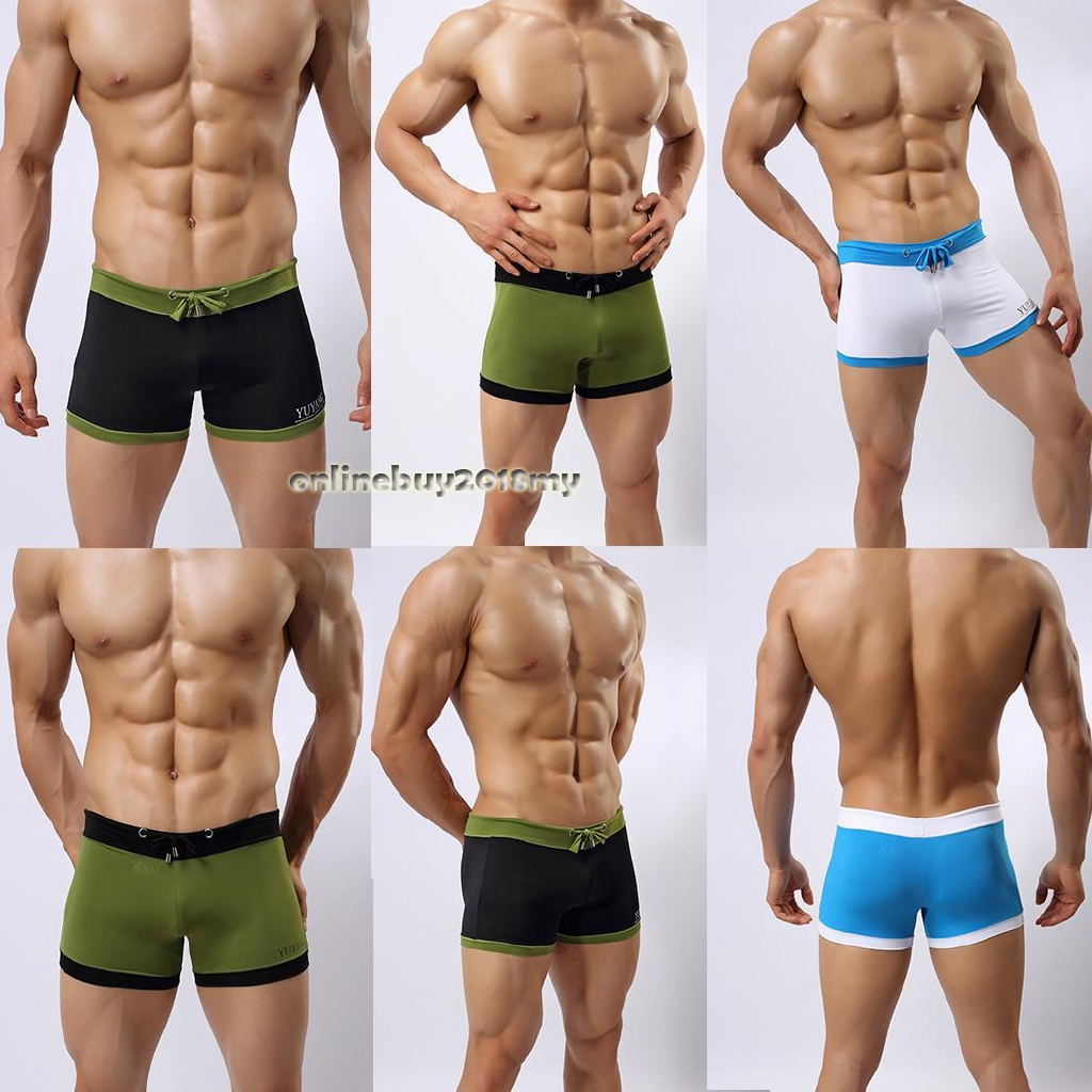 22fdadd5f2a99 h Swim Trunks Boxer Briefs Drawstring Swimwear Beach Shorts | Shopee  Malaysia