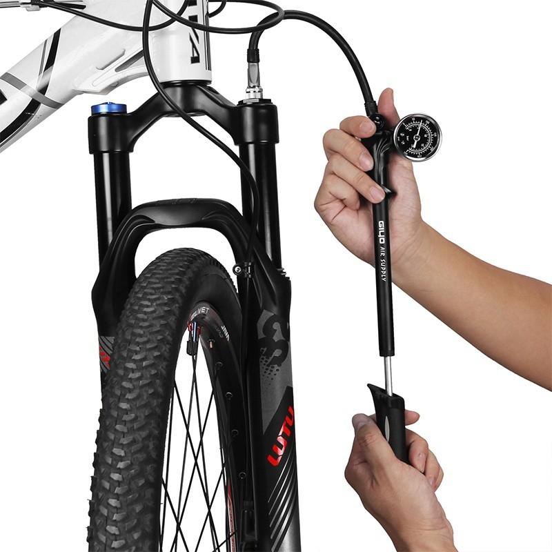 High Pressure Air Inflator 210psi Bike Compact Suspension Fork /& Rear Shock Pump