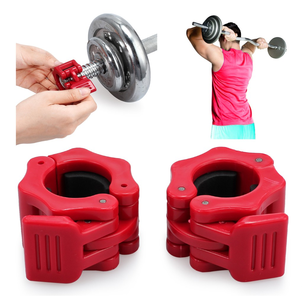 2X 25mm Weight Lifting Bar Collars Standard Barbell Lock Clamp Collar Home  Gym  2fdc117aff4b