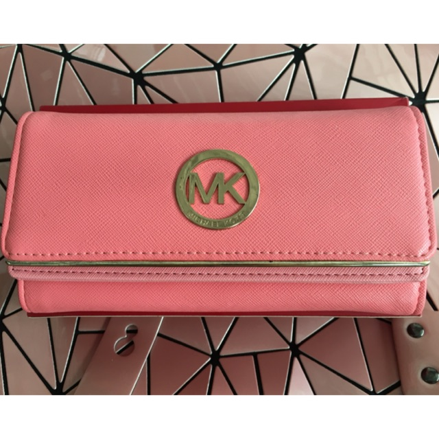 กระเป๋าเงินใบยาวสีชมพู สไต