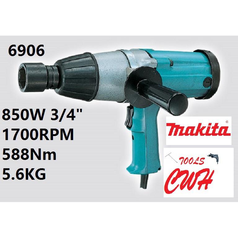 "MAKITA 6906 3/4"" 19MM 850W 588Nm IMPACT WRENCH"