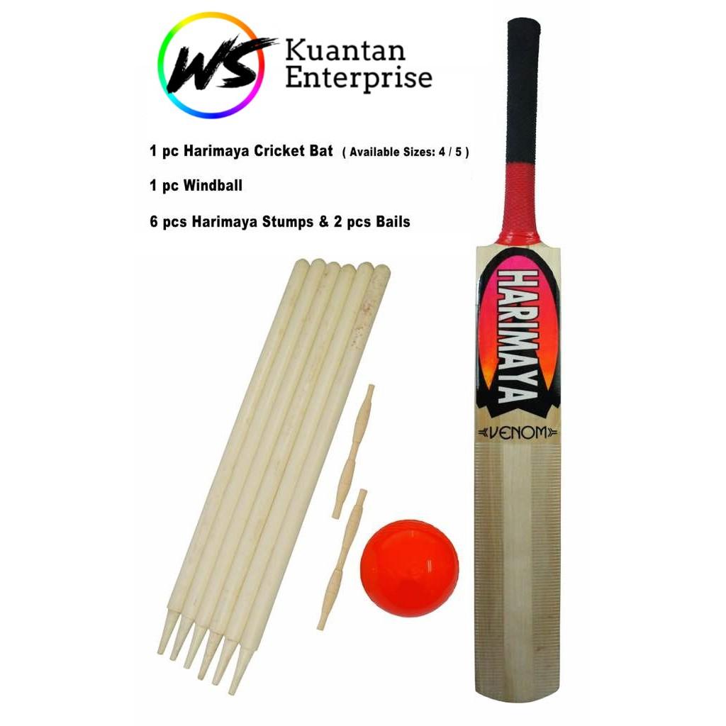 【100% Original】Harimaya Cricket Set   Kriket Set (Free Carry Bag)
