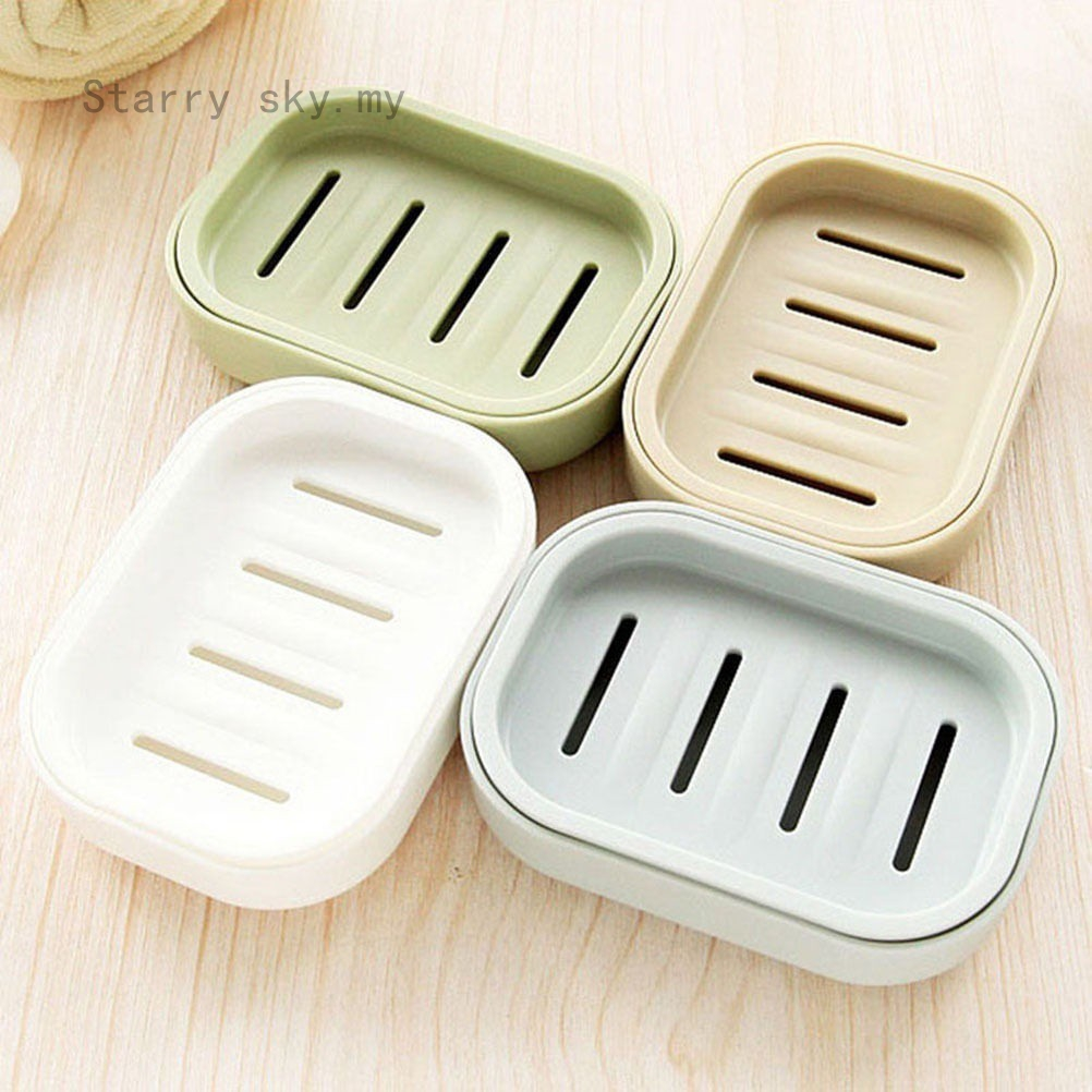 Soap Dispenser Dish Case Holder Container Box  for Bathroom Travels Carry CaseRS