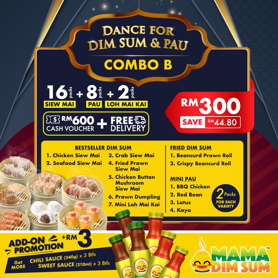 Dance for Dim Sum & Pau Promotion Pack (Save RM44.80)