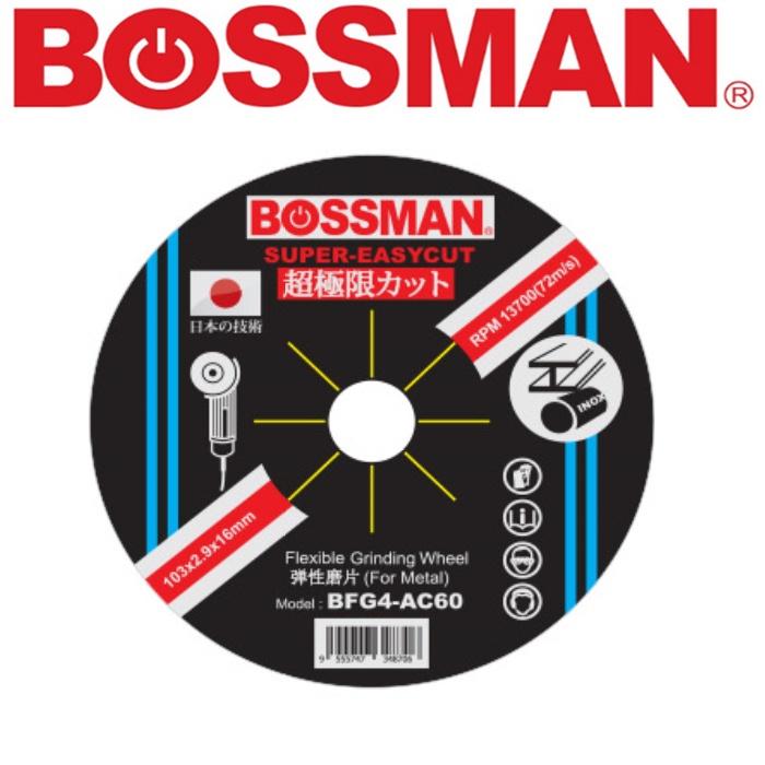 BOSSMAN SUPER EASY CUT FLEXIBIBLE GRINDING DISC 4'' SUPER ESAY-CUT SERIES ACCESSORIES EASYUSE SAFETY GOODQUALITY
