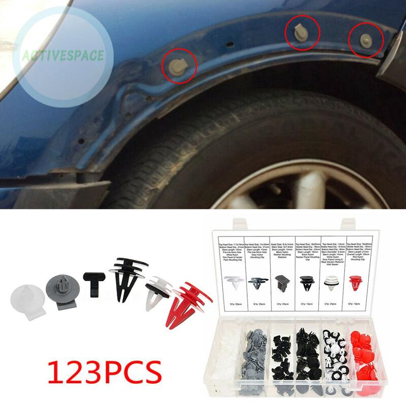 50* 5mm Trim Clips For BMW Wheel Arch Liner Lining Moudling Black Plastic Rivet