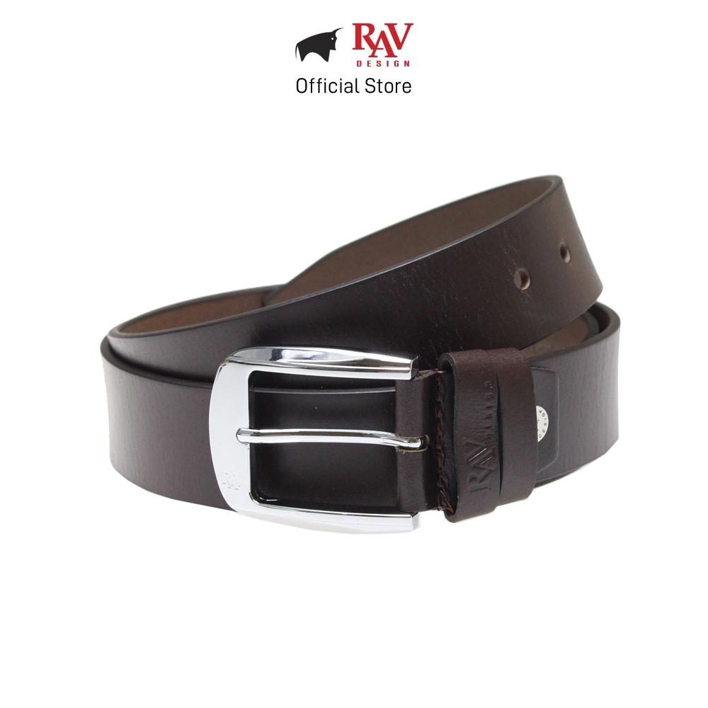 Rav Design Men's 100% Genuine Cow Leather Pin Buckle Belt - Brown (40mm) RVB562G1