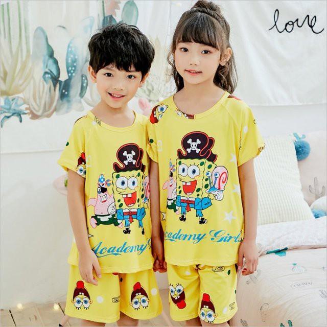 2Pcs Kids Boys Girls Cartoon Pj/'s Pyjamas Sleepwear Nightwear Pajamas Set Outfit