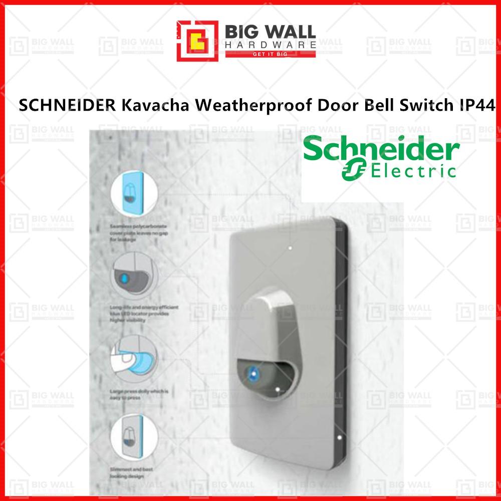 SCHNEIDER Kavacha Weatherproof Door Bell Switch IP44 Big Wall Hardware