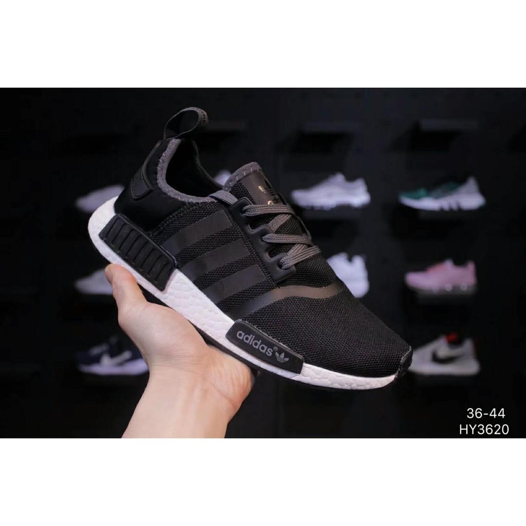 fea3becf5 summer running shoes Original Adidas Nmd R1 Pk Hitam Kasut pasangan size 36- 44