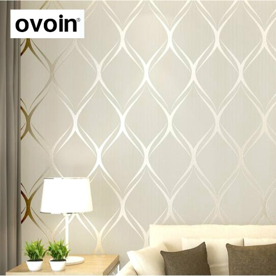 Beige White Grey Luxury Modern Wallpaper For Bedroom Walls Covering Living Room Wallpapers Roll Geometric Wall Paper Home Decor Shopee Malaysia