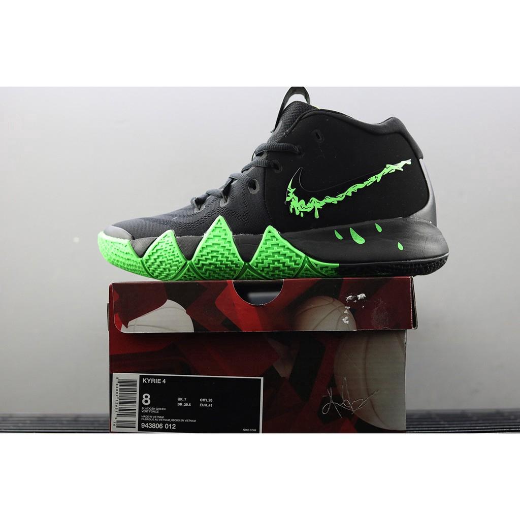 276712576e90 Nike Kyrie 4 Halloween Black Rage Green