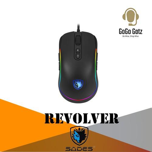 {SD-REVOLVER-RGB} Sades Revolver RGB PMW 3325 9 Button Gaming Mouse (RGB)