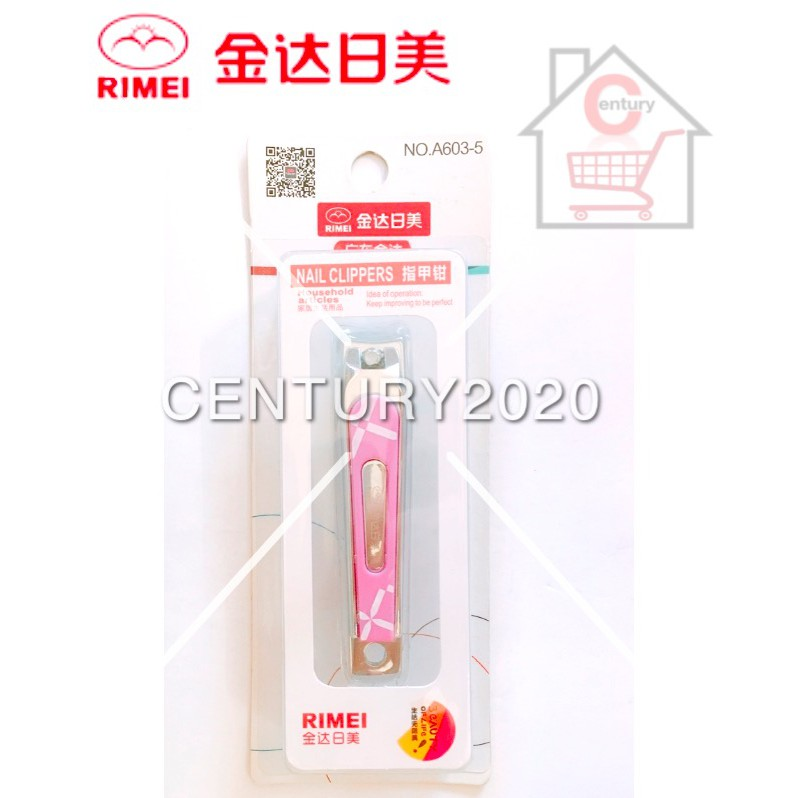 RIMEI Nail Clipper Manicure Care Nail Cutter High Grade Stainless Steel Nail Cutter A603-5