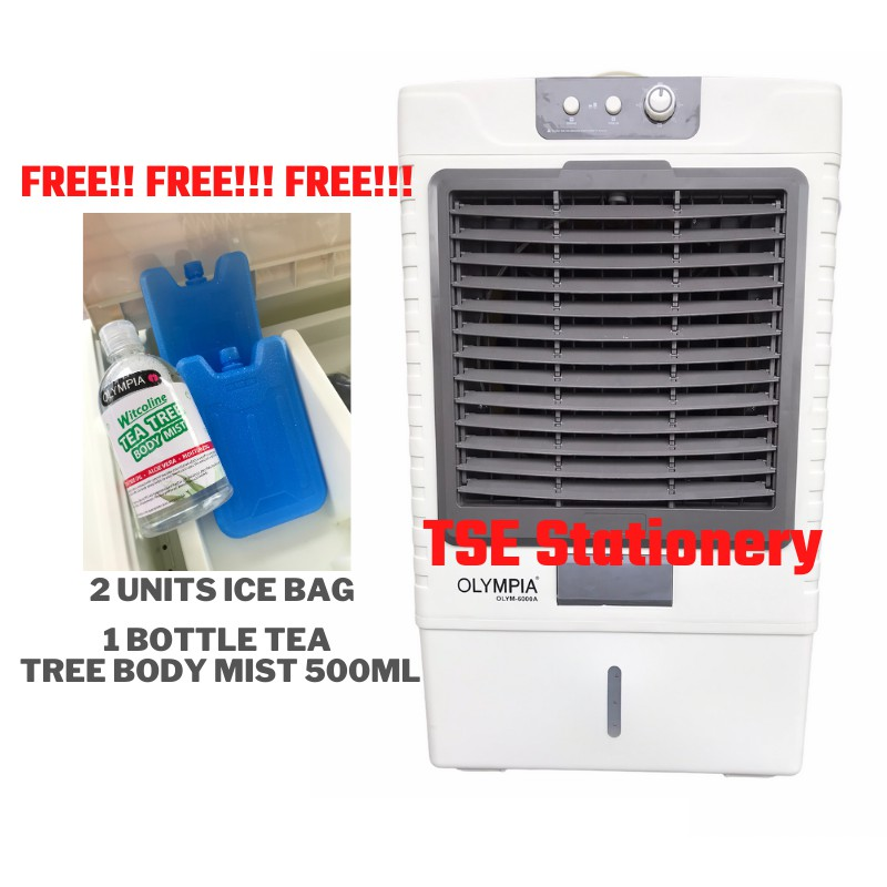 **FREE Gift** Olympia 50L Tank Evaporative Air Cooler 6000m3/hour Air Flow Good Quality OLYM-6000A OLYM 6000A