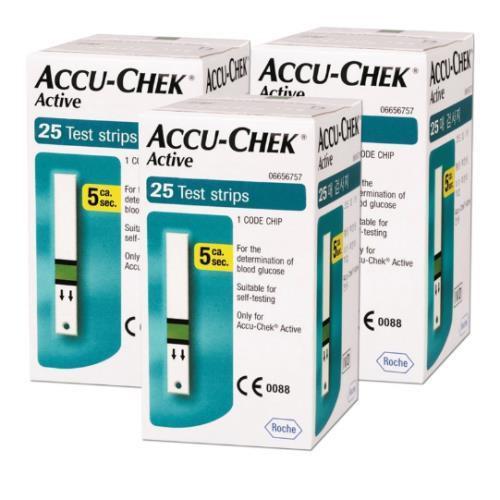 Accu-Chek Active Blood Glucose Strips (25\'s x 3)