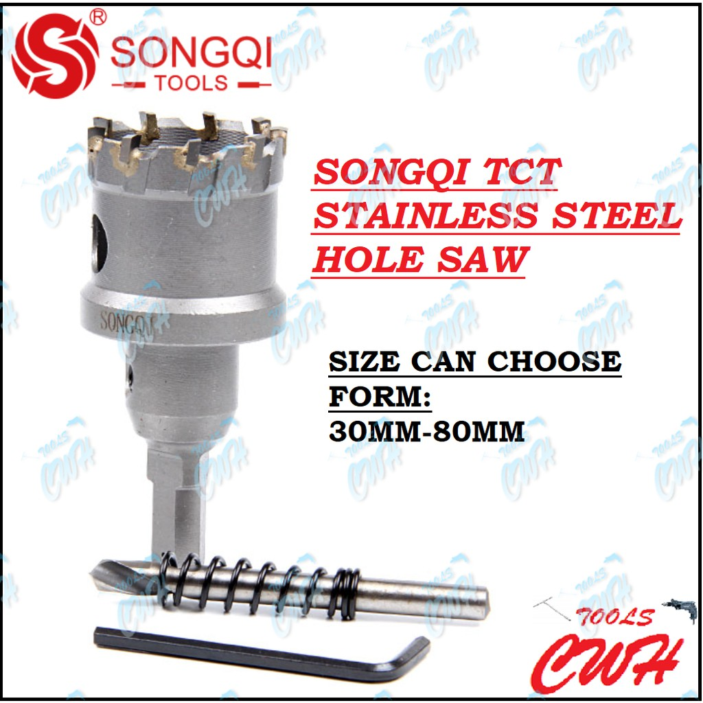 SONGQI TCT STAINLESS STEEL HOLE SAW 30MM - 80MM