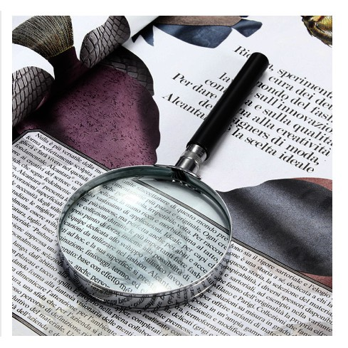 Handheld Portable Magnifier Glass 10x High-Definition 90MM
