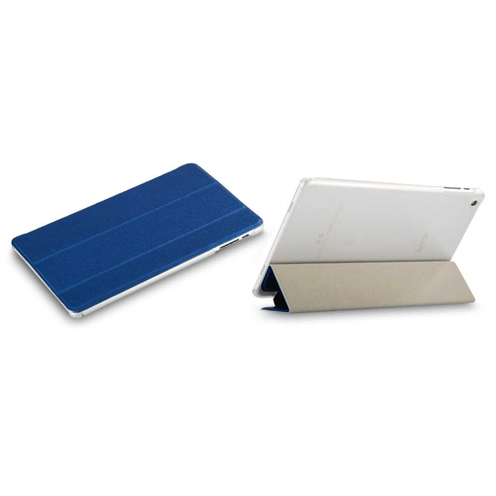 PU Leather Folio Cover Full Body Protective Skin Stand for TeclastP80 Pro (Blue)