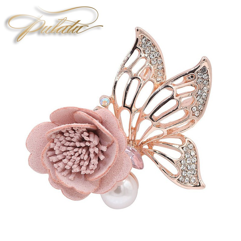Korean version of butterfly rhinestone brooch Lady brooch pin Ladies jewelry accessory