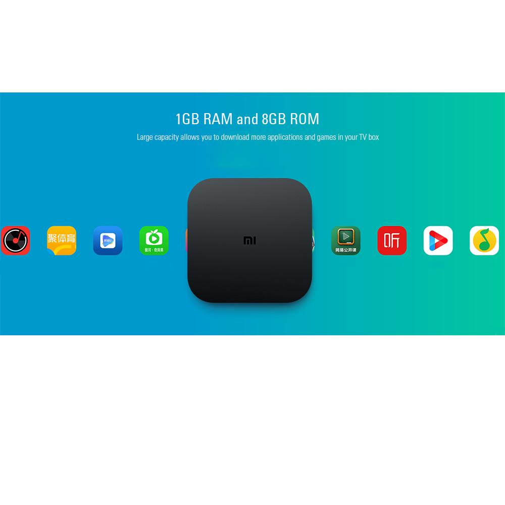 Xiaomi Mi Box 4 Bluetooth Voice Control TV Box Amlogic S905L 2GB RAM