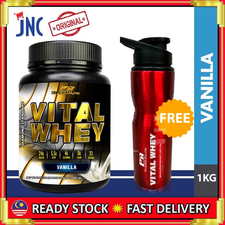 Vital Whey Isolate Halal 1kg 24g Protein 0g Sugar Bcaa