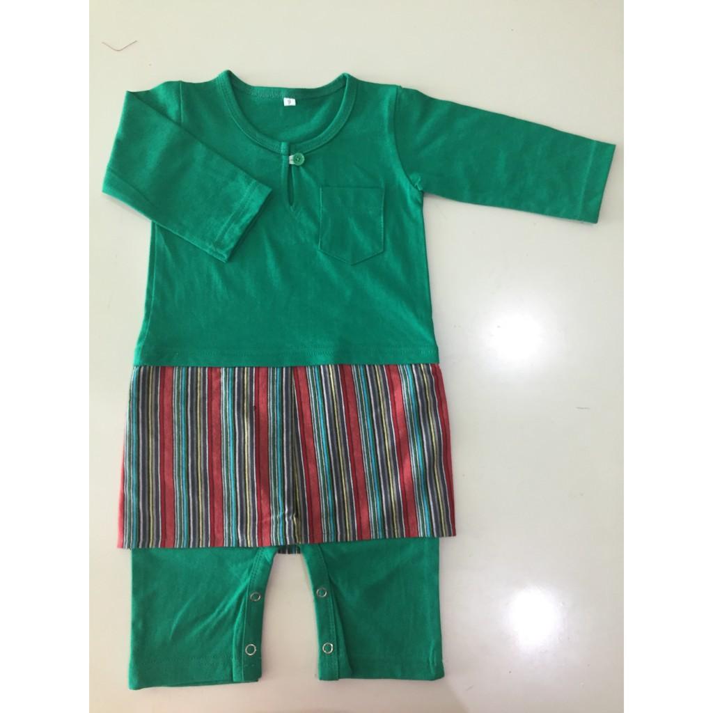 4da74a18f Olive Green Baby Baju Samping Baby Romper Raya (READY STOCK ...
