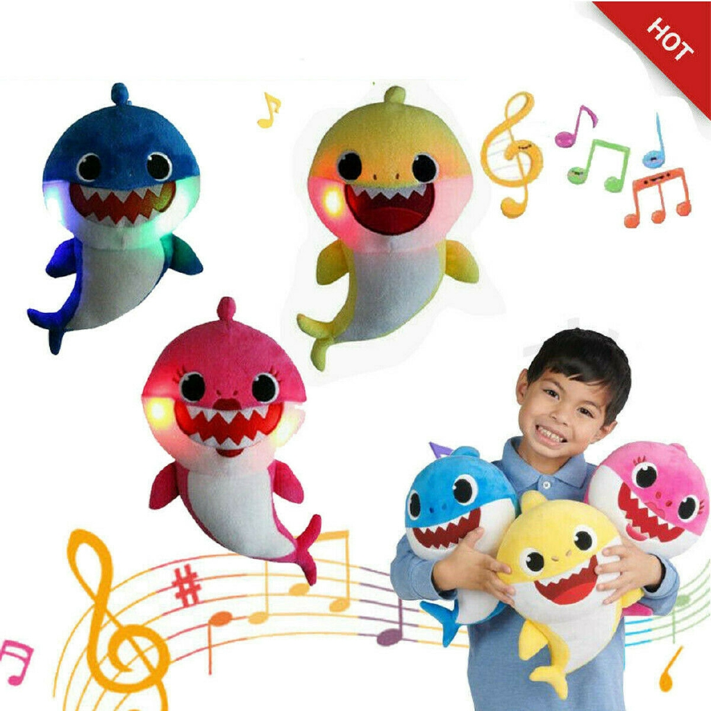 2019 Baby Shark Plush LED Singing Plush Toys Music Doll English Song Gift kids