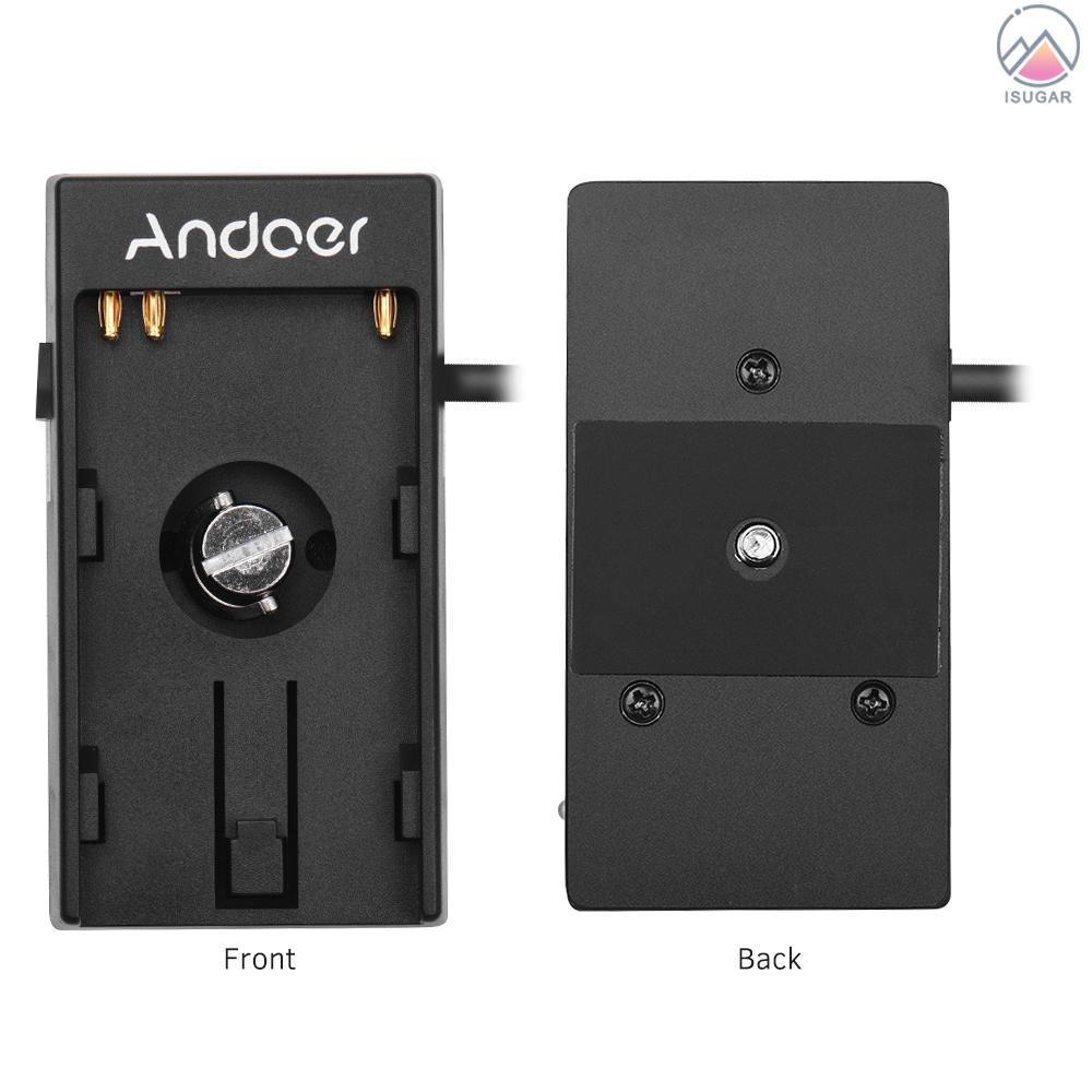 Spring Cable Andoer Camera DV Battery Power Supply Mount Plate Adapter with 1//4 Inch Screw for Blackmagic Cinema Pocket Camera BMPCC 4K for Sony BP-U30 U60 U90 BP-U Battery