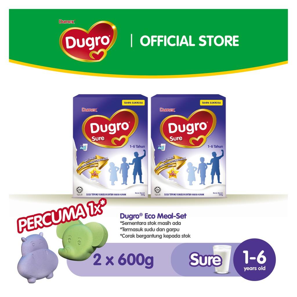 Dumex Dugro Sure (600g x 2) FOC Eco Meal Set