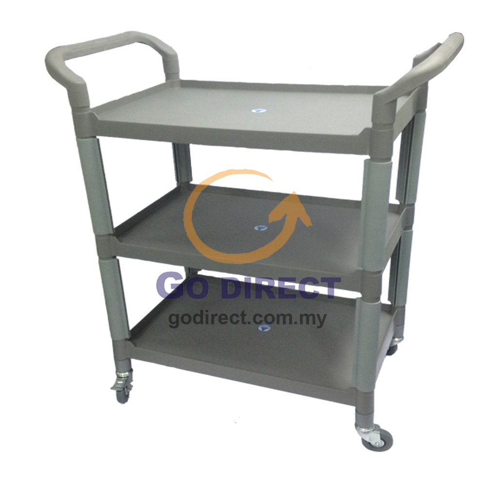 Free Delivery 1 X Toyogo 3tiers Serving Cart Trolley W Wheels Restaurant Household Kitchen Table Code 682 1 Unit Shopee Malaysia