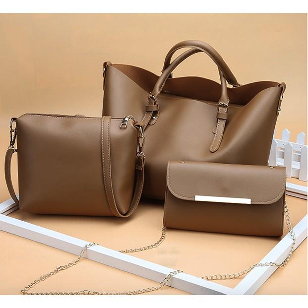 WOman handbag 3 in 1 Shoulder Bag Casual Woman Handbag