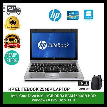 REFURBISHED NOTEBOOK HP ELITE 2560P LAPTOP /12 5 INCH DISPLAY/ INTEL