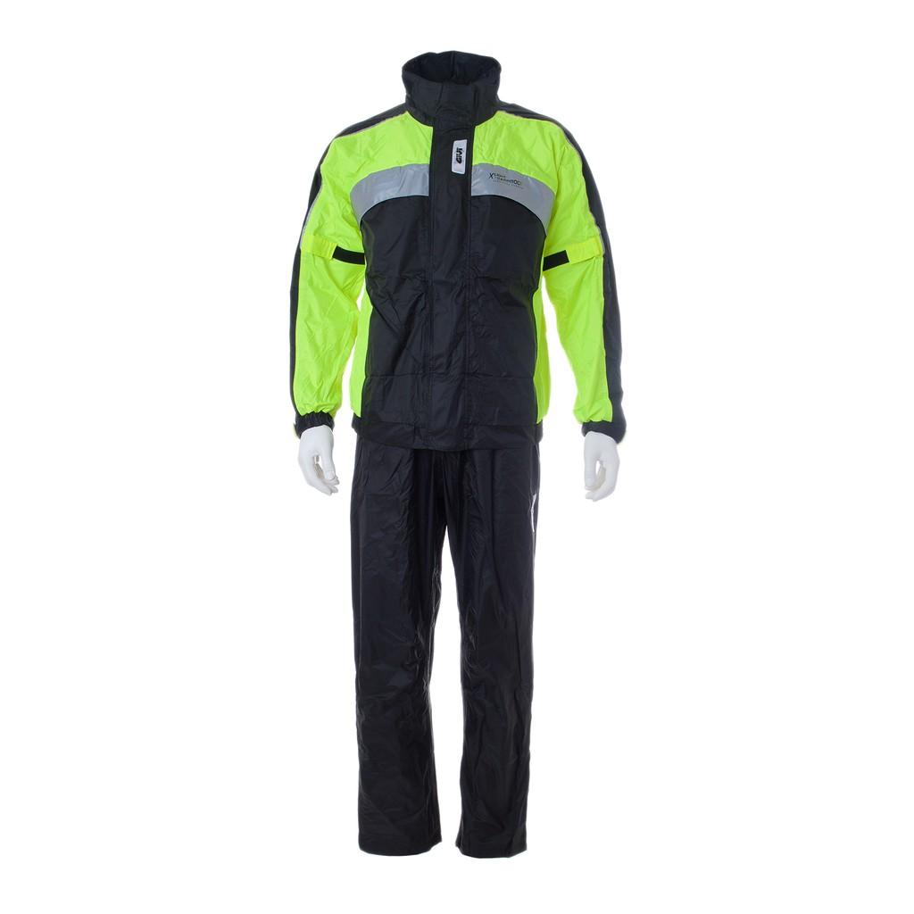 Raincoat GIVI PRS01 Prime Range Ultra Light Nyon Baju Hujan (Black Yellow)