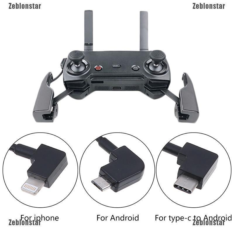 Otg Micro Type C Usb Cable For Dji Spark Mavic Pro Rc