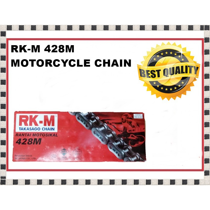 RKM Chain Kit - Y15ZR/LC150/FZ150 (with RK HB Chain