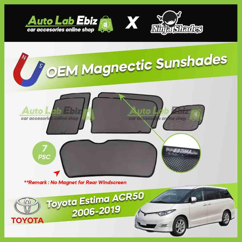 Toyota Estima ACR50 2006-2019 Ninja Shades OEM Magnetic Sunshade (7pcs)
